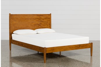Alton Cherry Eastern King Platform Bed