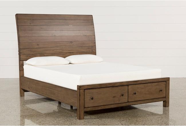 Brooke Eastern King Storage Bed - 360