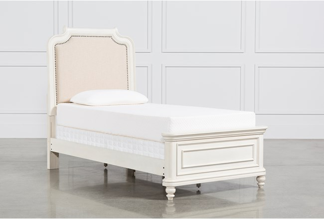 Emily Twin Upholstered Panel Bed - 360