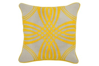 Accent Pillow-Zina Yellow 18X18