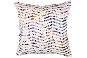 Accent Pillow-Jude Floral Chevron 22X22