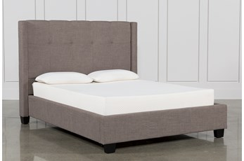 Damon Stone California King Upholstered Platform Bed