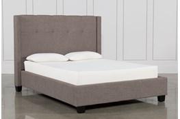 Damon Stone Queen Upholstered Platform Bed