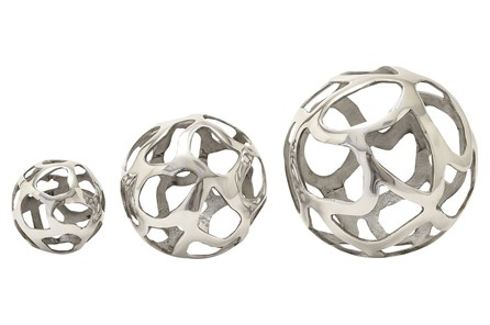 3 Piece Set Aluminum Decorative Balls