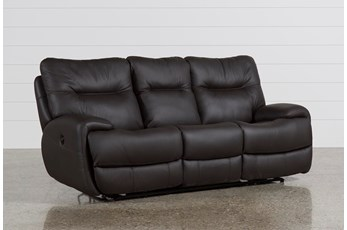 Oliver Graphite Leather Power Reclining Sofa