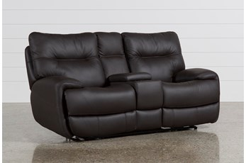 Oliver Graphite Power Reclining Loveseat W/Console
