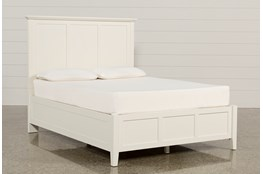 Copenhagen White Eastern King Panel Bed