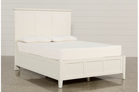 Copenhagen White Queen Panel Bed