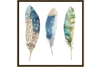 Picture-Trio Of Blue Feathers