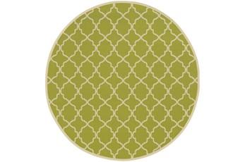94 Inch Round Rug-Montauk Lime