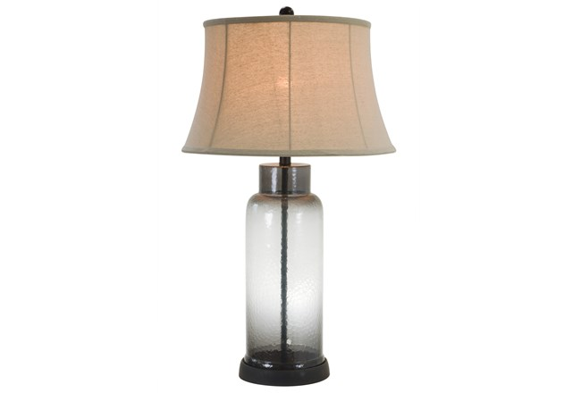 Table Lamp-Erynn Smoke Glass - 360
