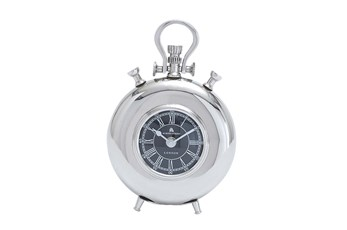 8 Inch Metal Nickel Table Clock