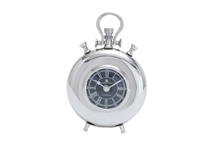8 Inch Metal Nickel Table Clock