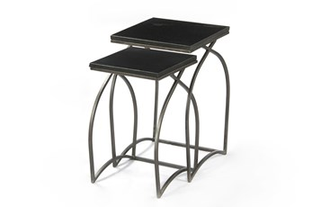 Tatiana 2 Piece Black Nesting Tables