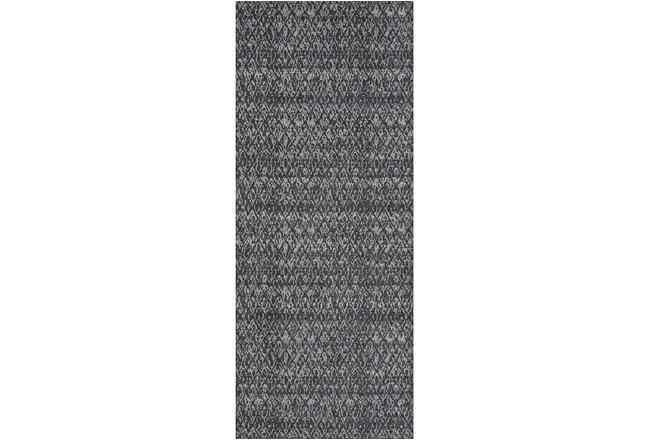 34X94 Rug-Luca Dark Grey - 360
