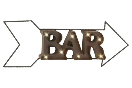 Metal Led Wall Sign-Bar