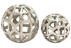 2 Piece Set Aluminum Orbs