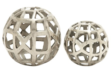 2 Piece Set Aluminum Orbs