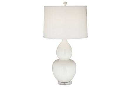 Table Lamp-Leona White