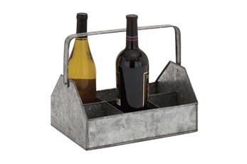 10 Inch Metal Wine Caddy