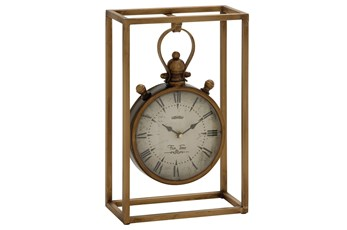 13 Inch Metal Table Clock