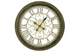24 Inch Metal Wall Clock