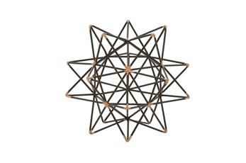 7 Inch Metal Wire Star Decor