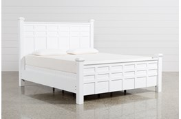 Bayside White Eastern King Poster Bed