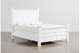 Bayside White Queen Poster Bed