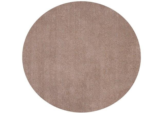 72 Inch Round Rug-Elation Shag Beige - 360