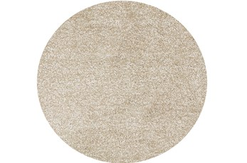 96 Inch Round Rug-Elation Shag Heather Ivory