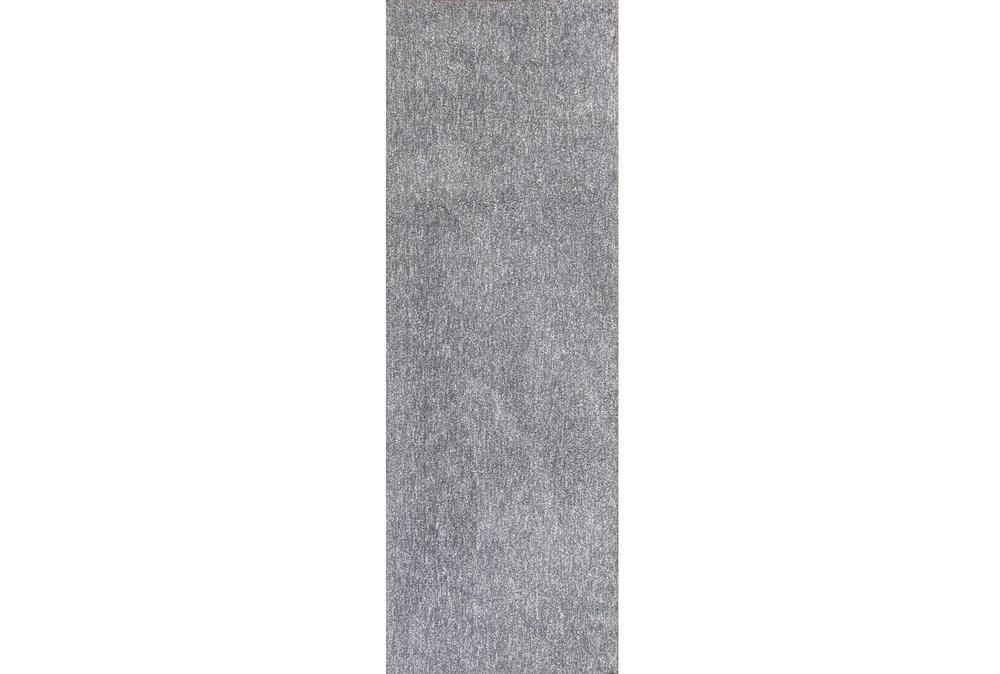 27X90 Runner Rug-Elation Shag Heather Grey