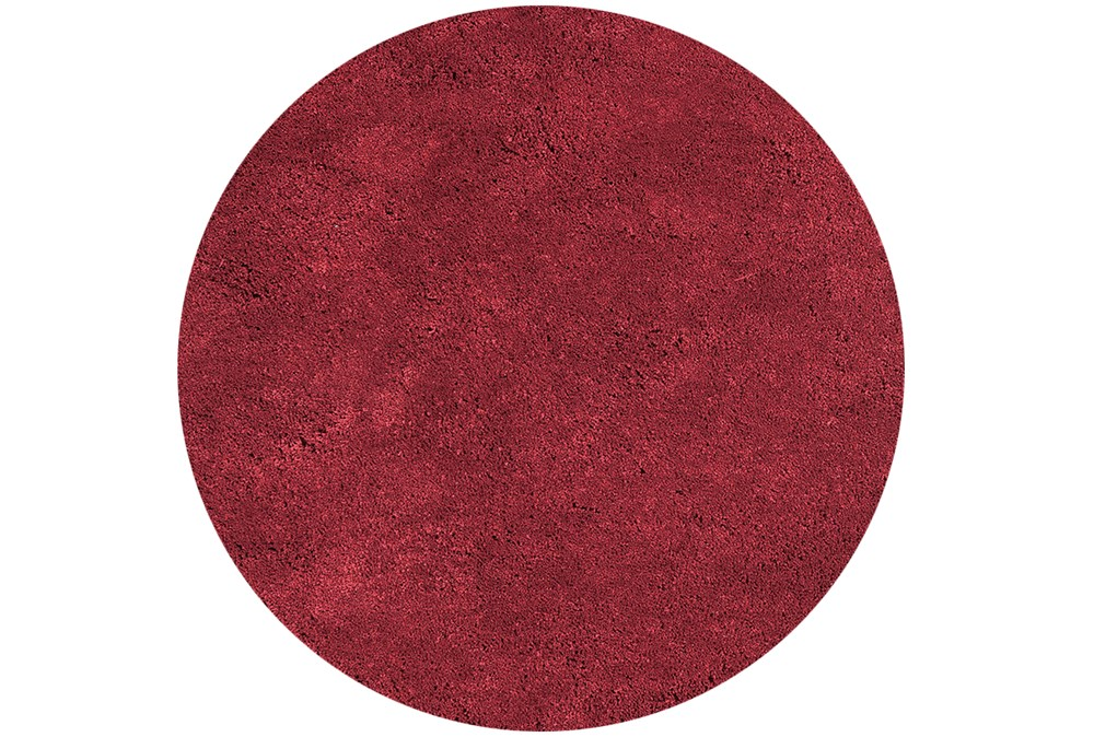 72 Inch Round Rug-Elation Shag Red