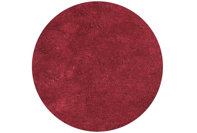 72 Inch Round Rug-Elation Shag Red - 360