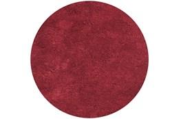 96 Inch Round Rug-Elation Shag Red