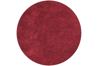 96 Inch Round Rug-Elation Shag Red