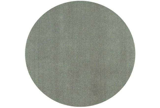 72 Inch Round Rug-Elation Shag Slate - 360