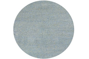 72 Inch Round Rug-Elation Shag Heather Blue