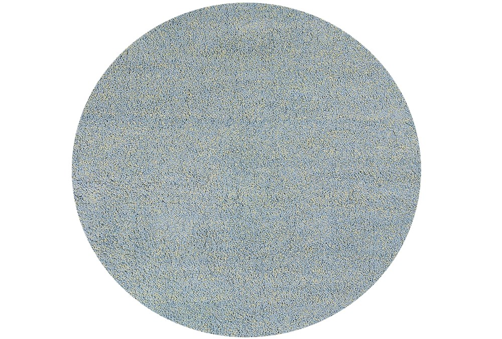 96 Inch Round Rug-Elation Shag Heather Blue