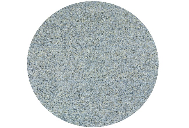 96 Inch Round Rug-Elation Shag Heather Blue - 360