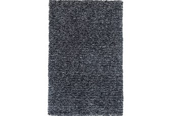 27X45 Rug-Elation Shag Heather Black