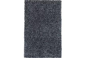 60X84 Rug-Elation Shag Heather Black