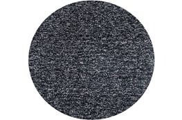 72 Inch Round Rug-Elation Shag Heather Black