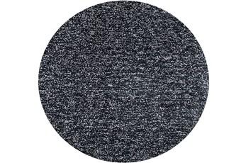 72 Inch Round Rug-Elation Shag Heather Black