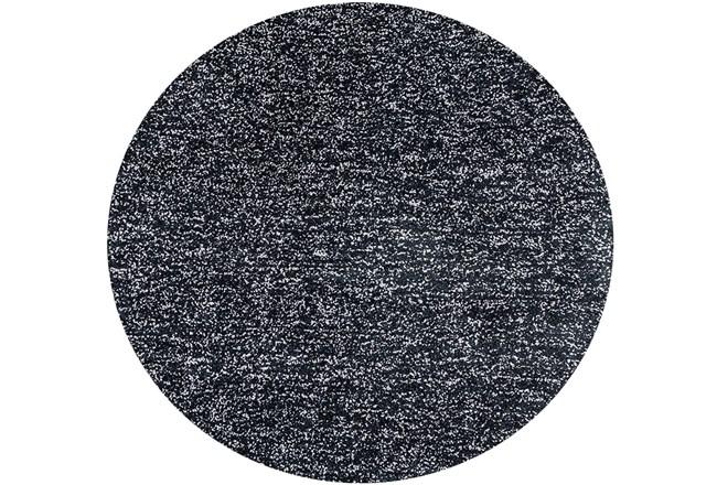 72 Inch Round Rug-Elation Shag Heather Black - 360