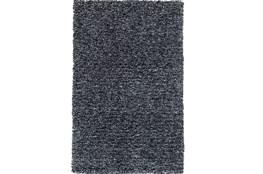 90X114 Rug-Elation Shag Heather Black