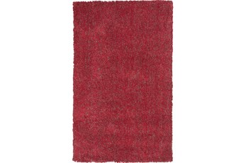 60X84 Rug-Elation Shag Heather Red