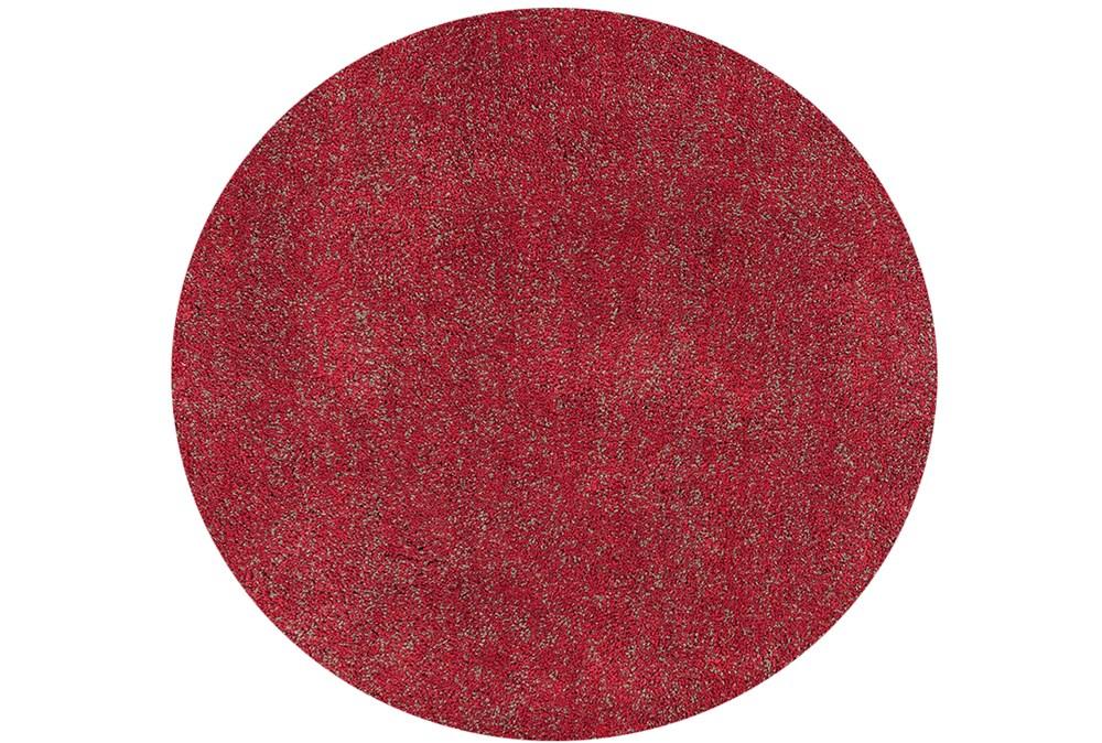72 Inch Round Rug-Elation Shag Heather Red
