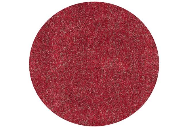 72 Inch Round Rug-Elation Shag Heather Red - 360