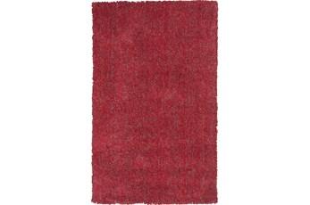 96X132 Rug-Elation Shag Heather Red